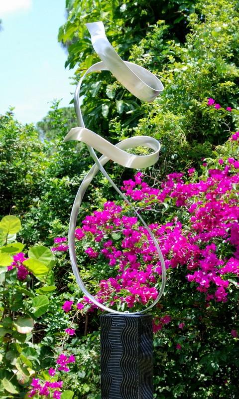 老年silverd_large sculpture modern silver metal indoor/outdoor sculpture