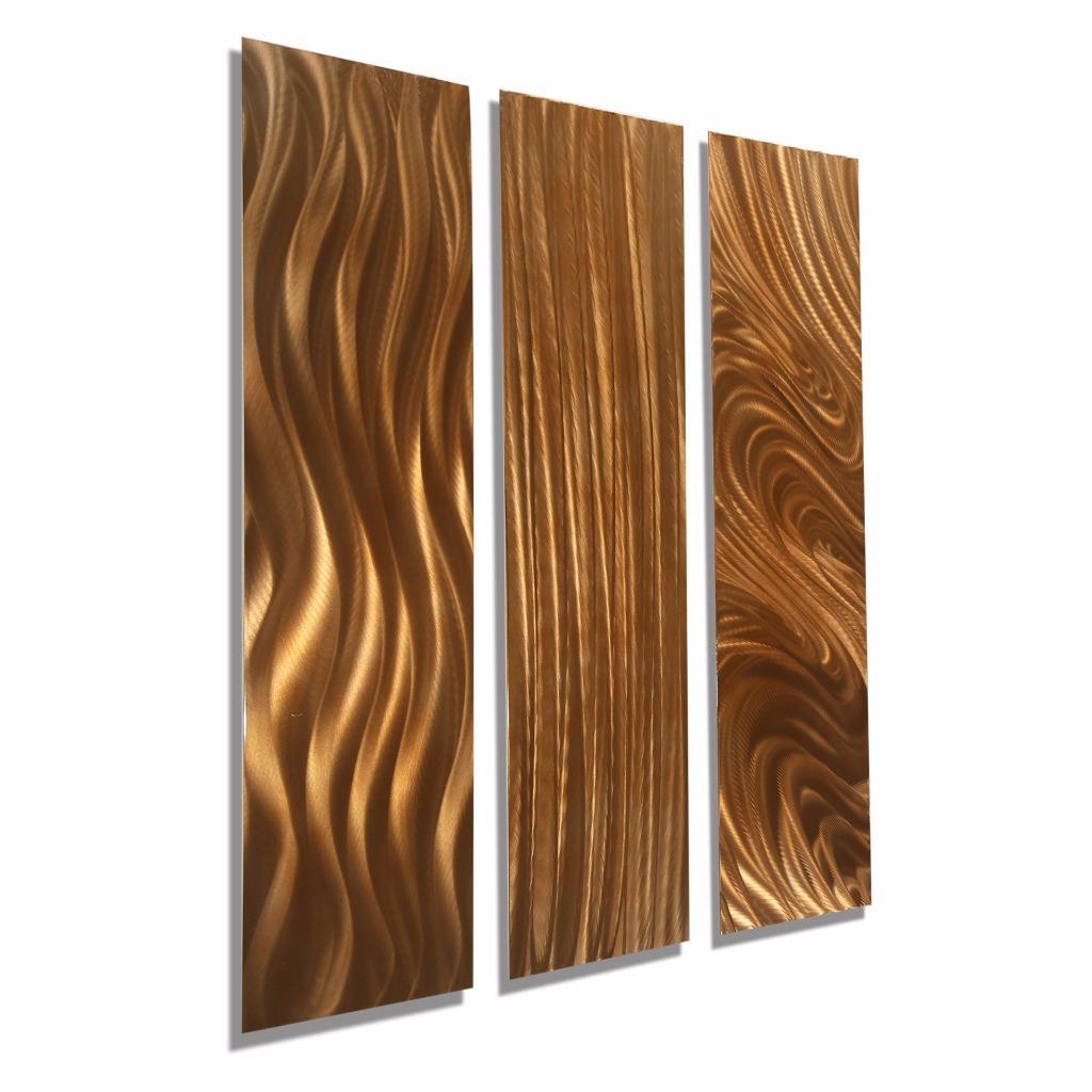 Contemporary Copper Metal Home Decor Abstract Wall Art ...