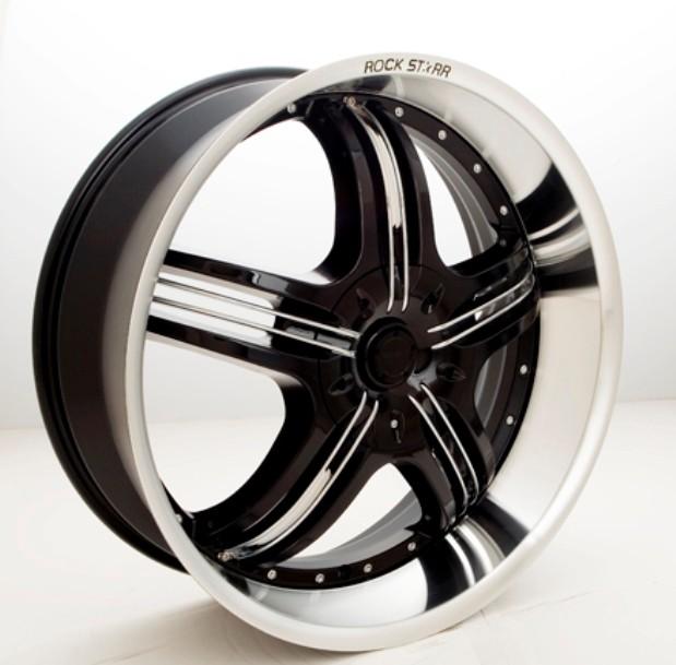 20 inch rims tires wheels 40 black rockstarr 41o pkg. Black Bedroom Furniture Sets. Home Design Ideas