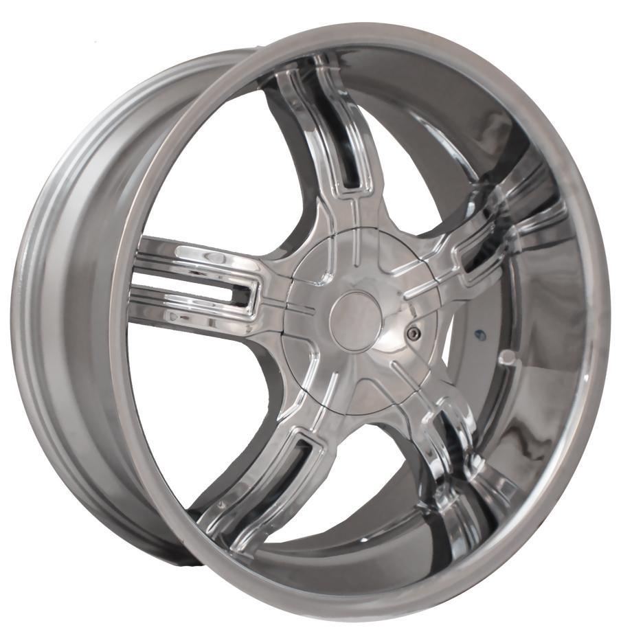 22 Effen 149 Chrome Wheels Rims Tires Pkg 5x115 Ford Chevy Dodge