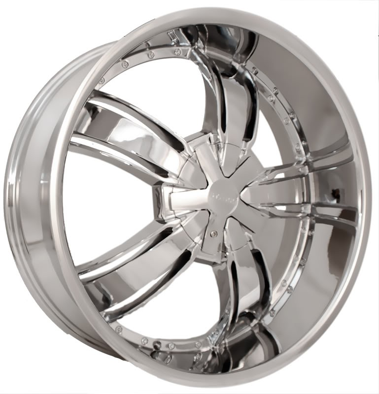 22 Starr 720 Chrome Wheels Rims Tires Pkg 5x115 Chevy Chrysler
