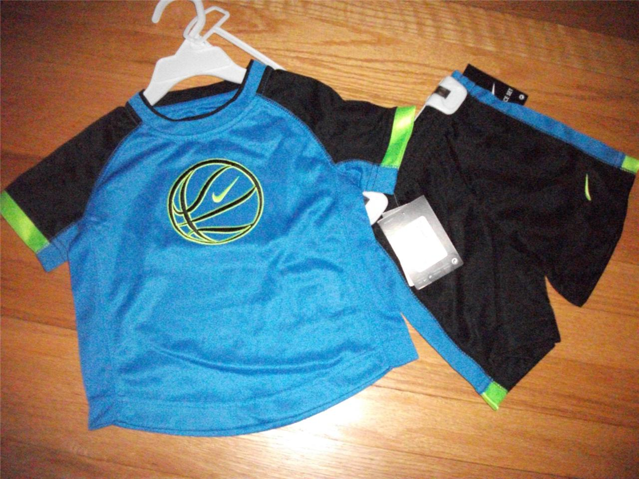 NIKE SIZE 2T SHORTS OUTFIT/SET FOR TODDLER BOYS NWT SUMMER ...