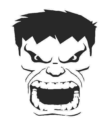 Incredible hulk a4 airbrush wall art paint stencil genuine for Incredible hulk face template