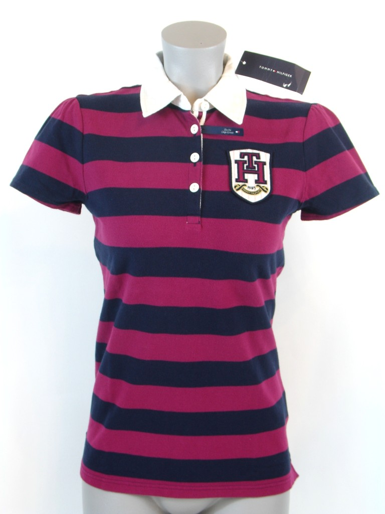 8189b16b NEW NWT TOMMY HILFIGER WOMENS SLIM FIT POLO RUGBY SHIRT on PopScreen