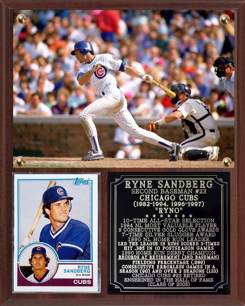 Ryne Sandberg 23 Chicago Cubs Photo Plaque Hall Of Fame