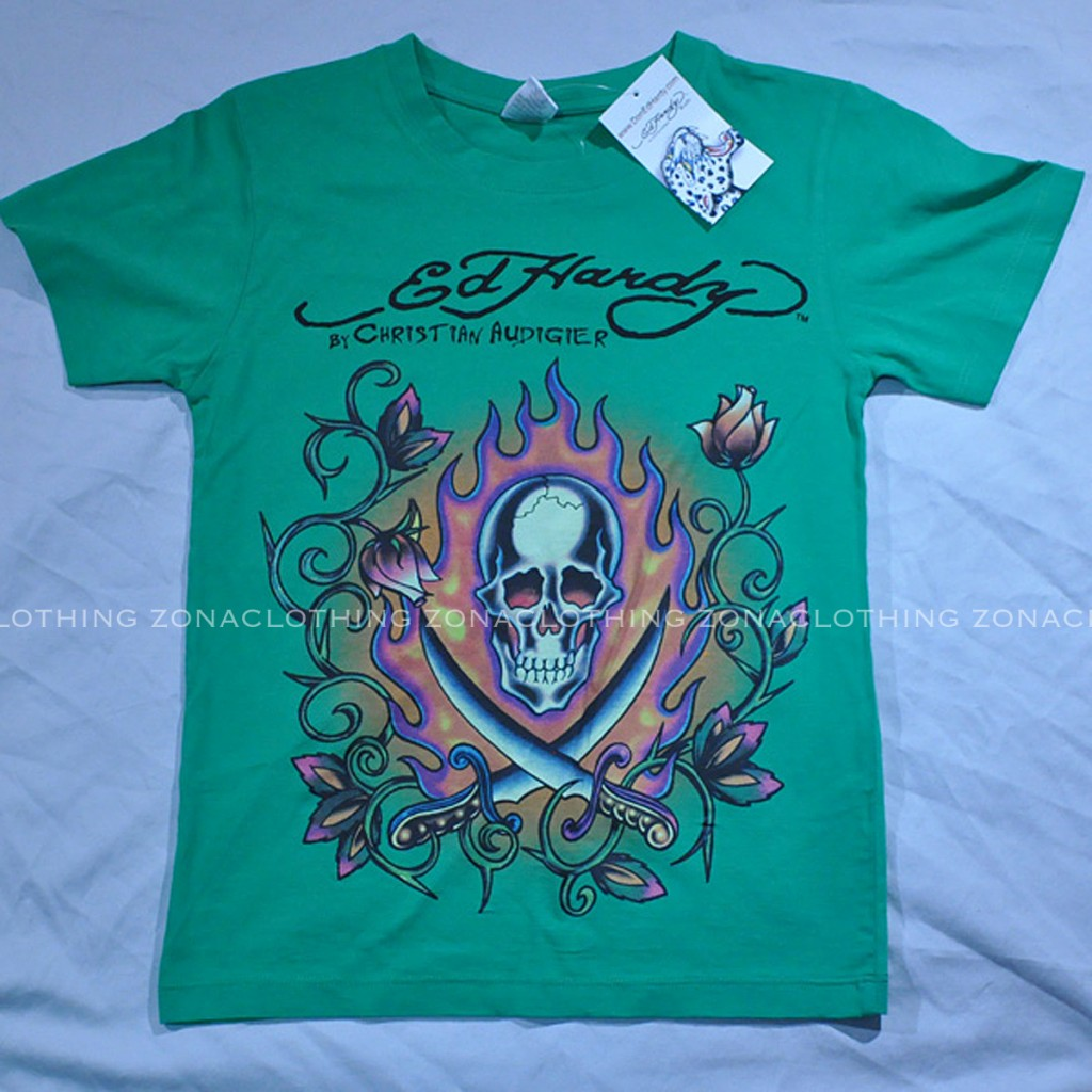 3705845717dc Ed Hardy Boys Kids Tee T shirt Christian Audigier LA Girls Designer ...