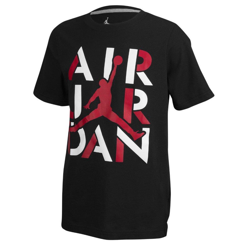 Big Selection Boys Youth Nike Air Jordan T-Shirt Tee Red ...