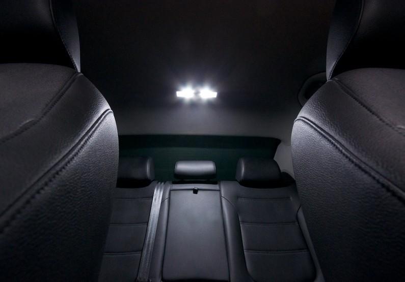 10 pcs white led interior lights kit for vw polo 6 r canbus no error smd set ebay for Led glow interior lights installation