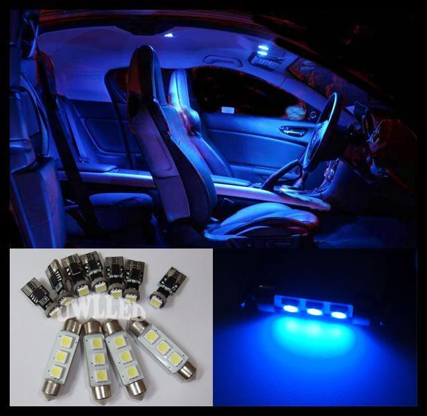 11 Pcs Blue Smd Led Canbus Interior Light Kit For Bmw E46