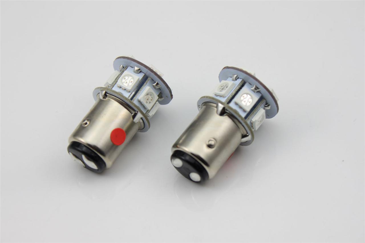 2x 6V 1157 bay15d 1154 12 SMD LED Amber Car Bulb Light Brake/Stop/Tail /Reverse