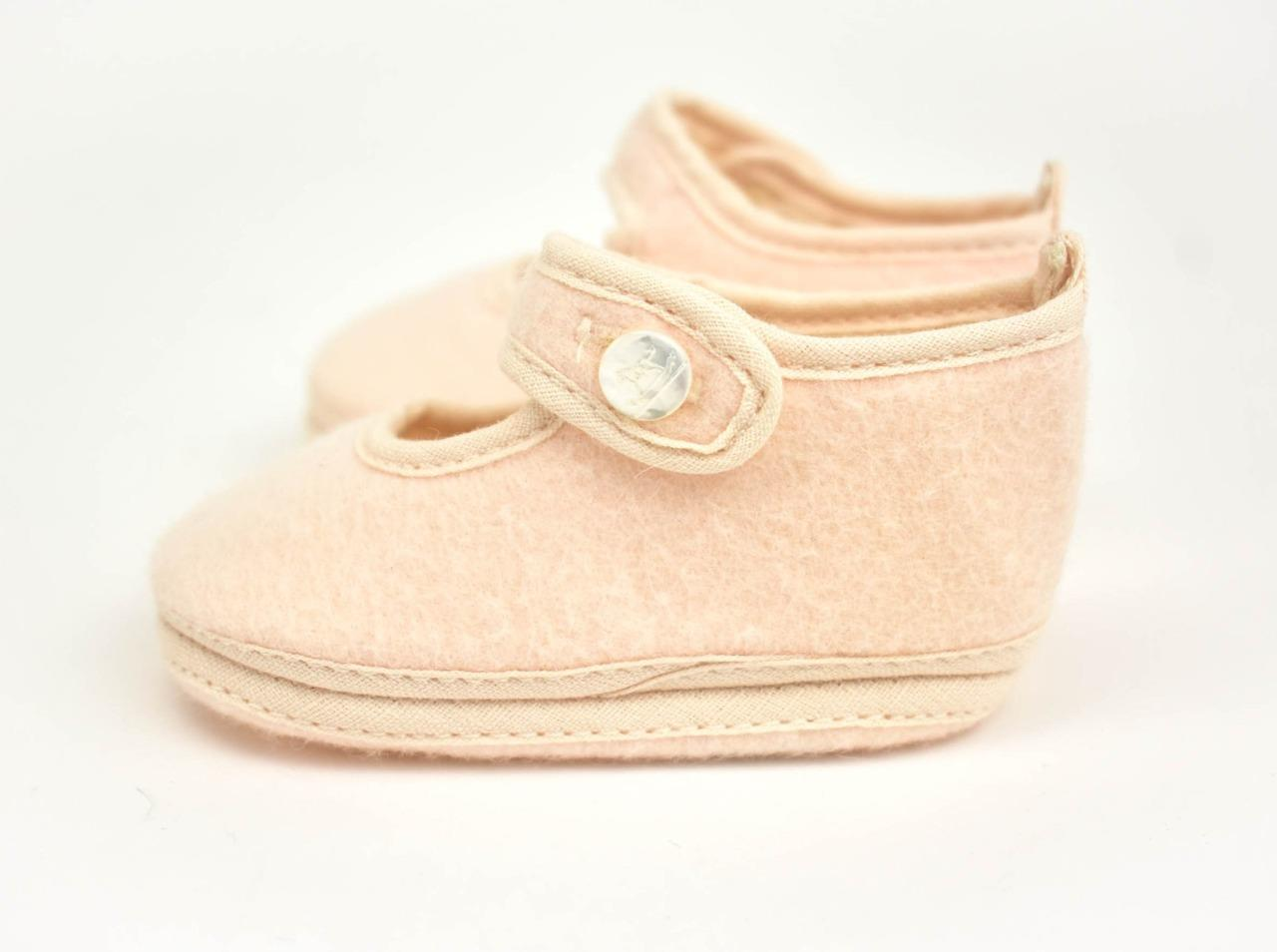 "HERMES ""Cheval à Bascule"" Pale Pink, Baby Booties/Shoes Sz ..."