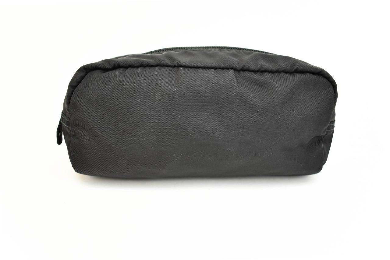 f520359b018e PRADA: Black, Vela Nylon & Logo Travel Organizer/Cosmetic Bag (ox ...