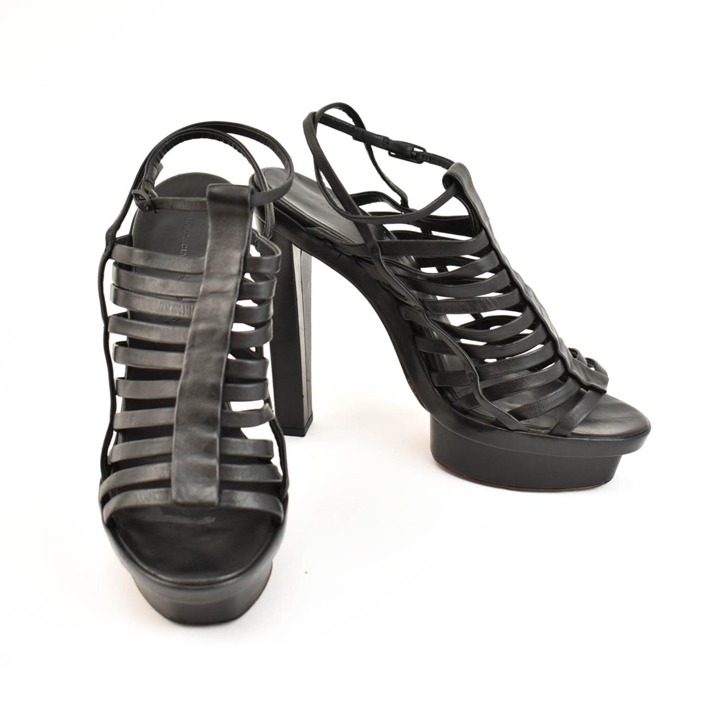 BALENCIAGA: Black, Leather Platform