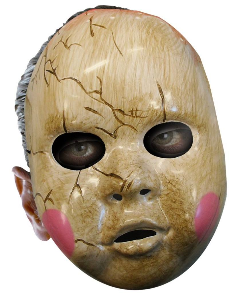 Adult Mens Horror Scary Face Baby Doll 1/2 Mask Costume | eBay