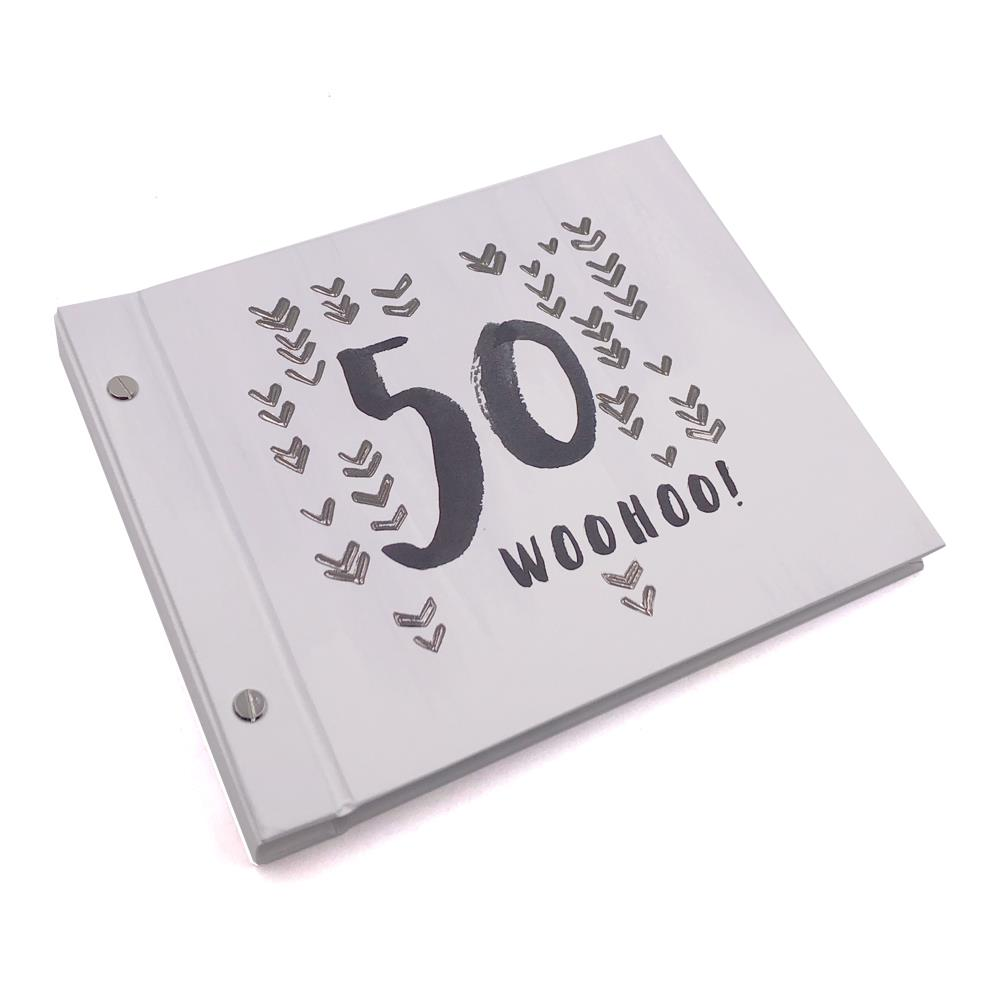 Details About 50th Birthday Male Guest Book And Photo Album Keepsake Gift HP10150