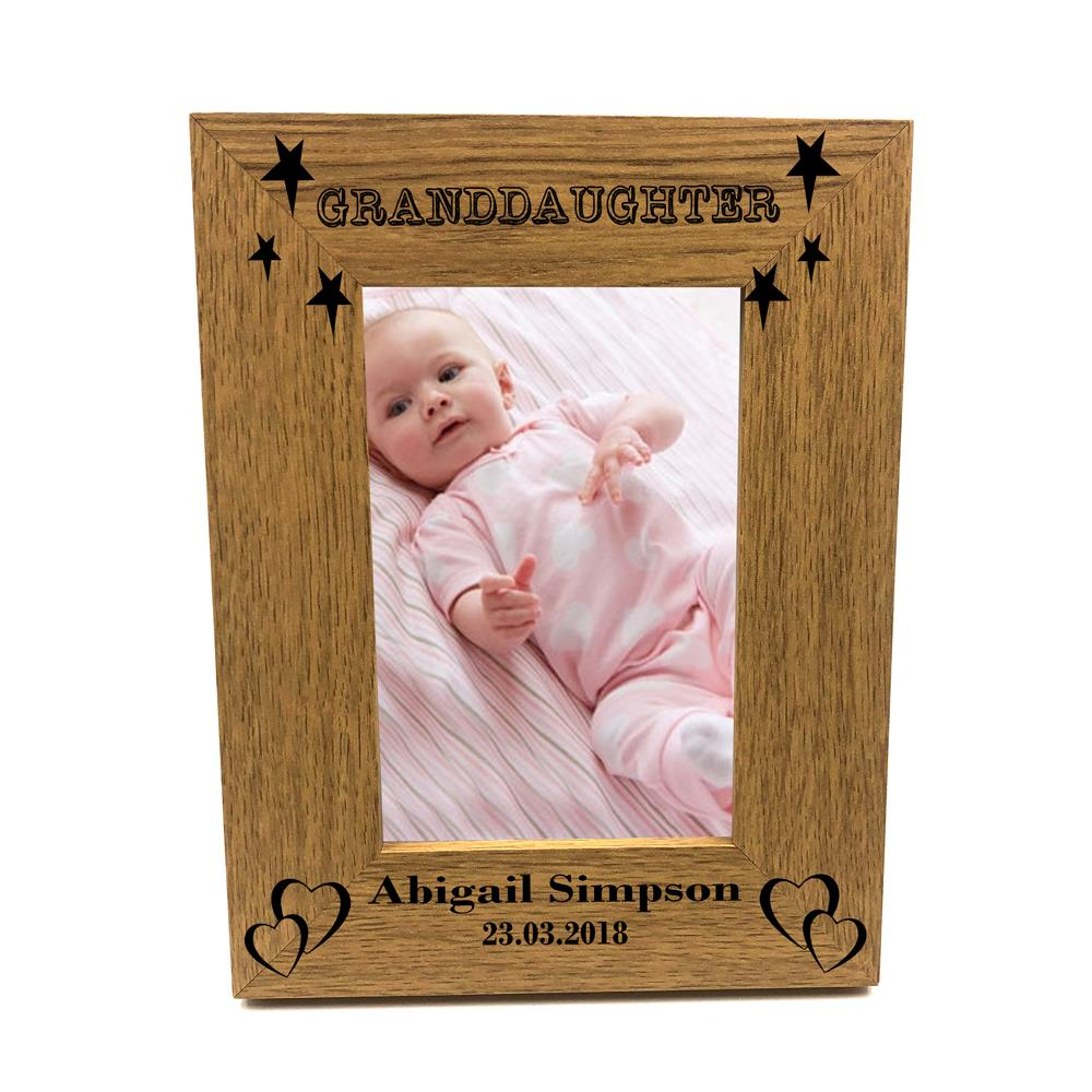 Personalised Great Granddaughter Landscape Photo Frame