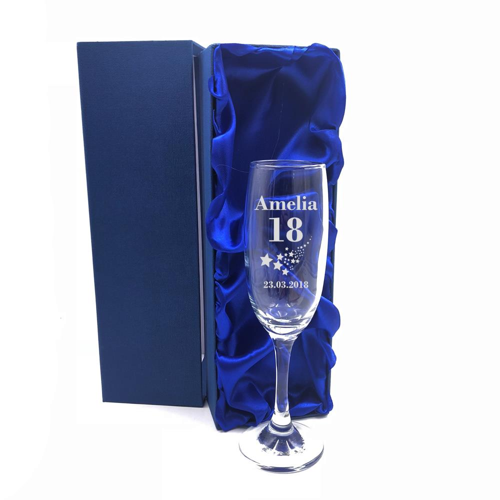 Personalised Engraved Martini Asti Champagne Flute Glass Birthday,Christmas 190