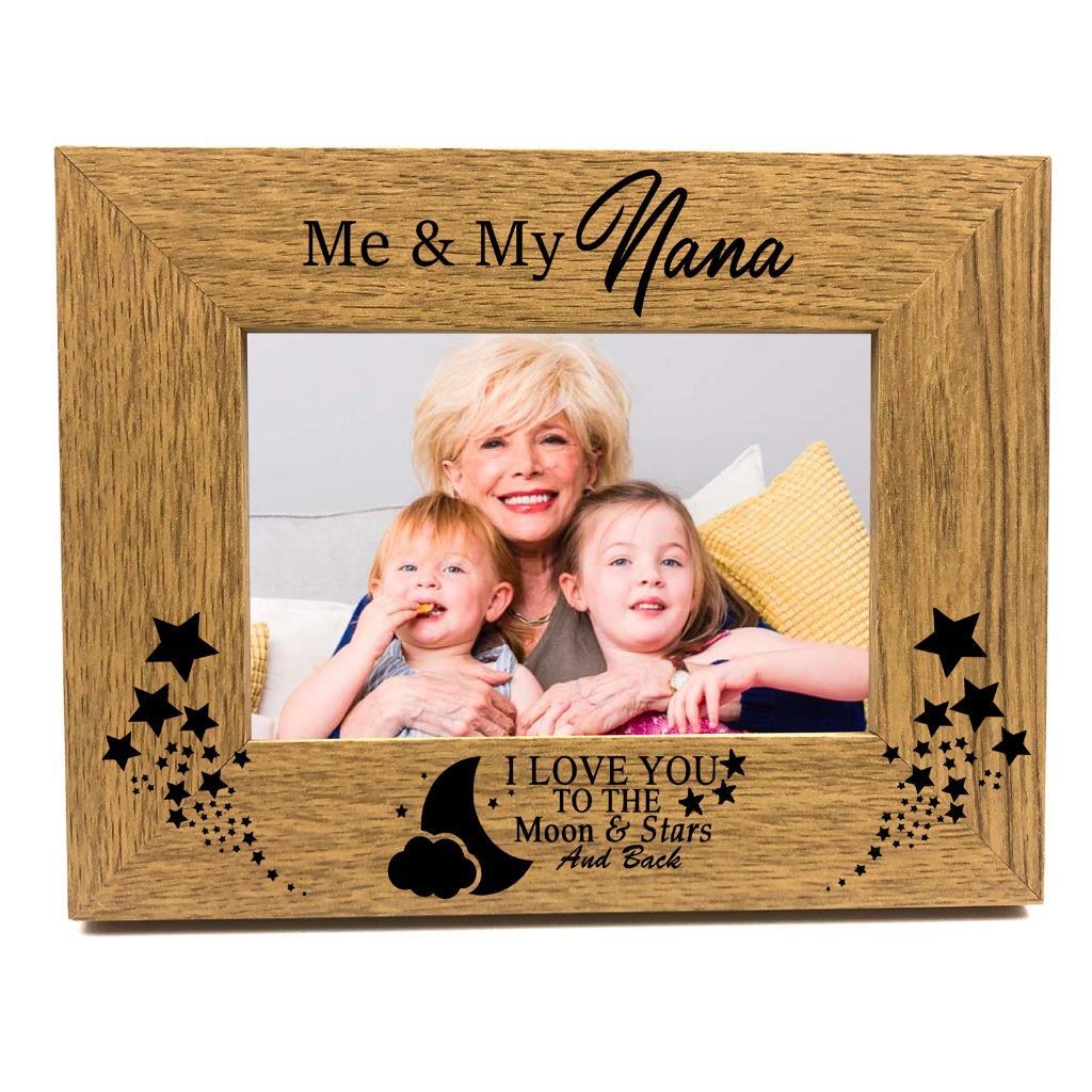 /'Nan /& Granddad/' Grandparent Gift Satin silver photo frame-shudehill Giftware