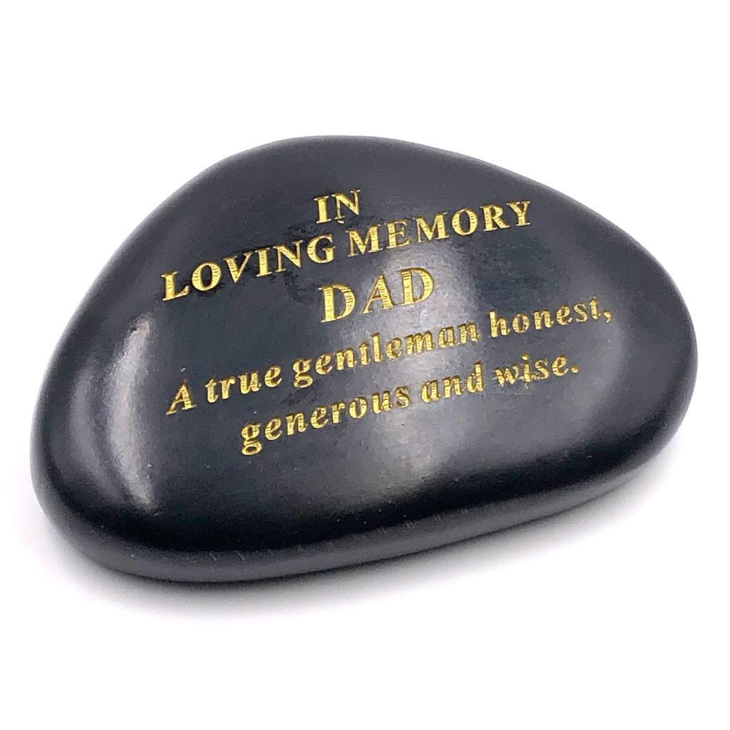 DF SISTER Memorial Black /& Gold Pebble Garden Ornament Stone//Rock Effect 14.5 x 10 cm