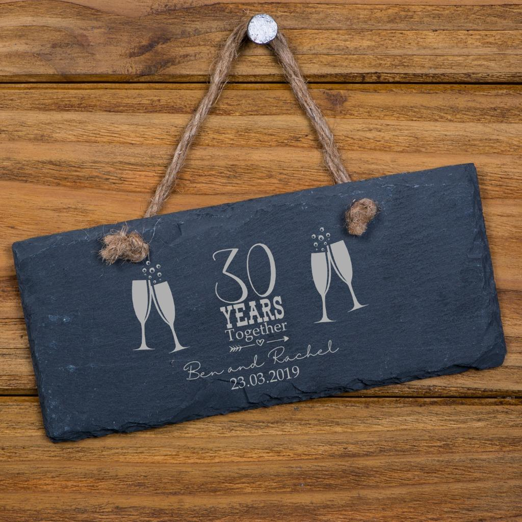 Personalised Slate 40th Anniversary Plaque Gift SL-RC38