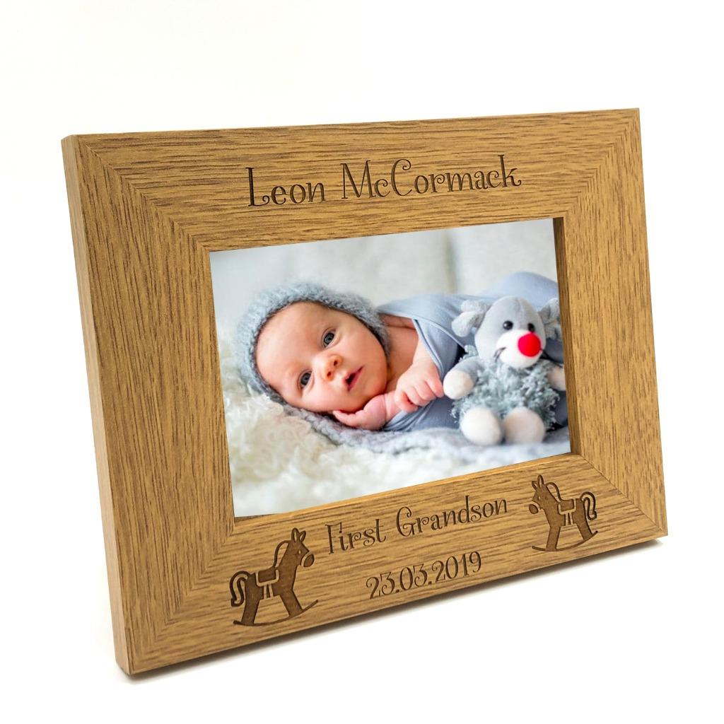 Personalised First Grandson Photo Frame Gift FW354