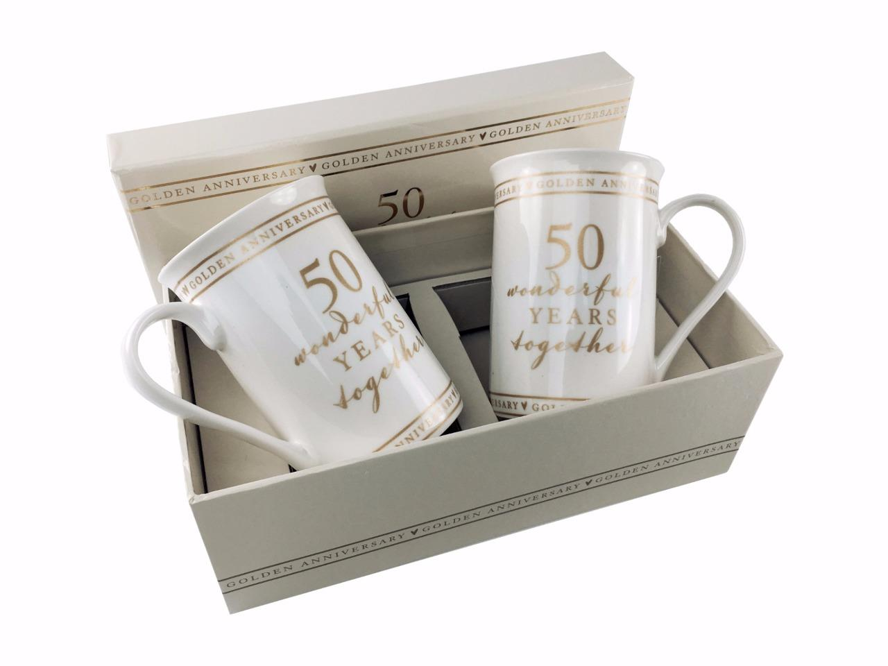 50th Golden Wedding Anniversary Gifts: 50th Golden Wedding Anniversary Gift Pair Of Sentiment