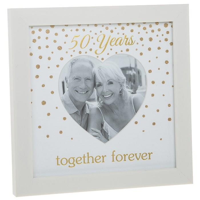 50th Golden Wedding Anniversary Photo Frame Gift 270618 602989577162 ...