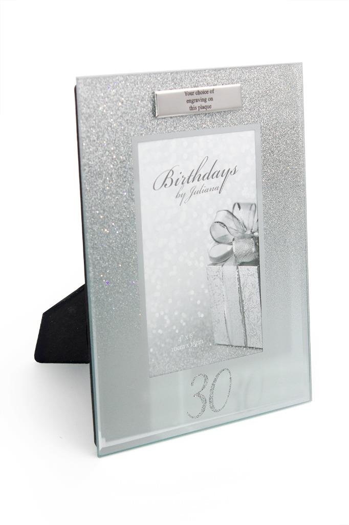 Personalised 30th Birthday Photo Frame Silver Glitter Gift FG59530-P ...