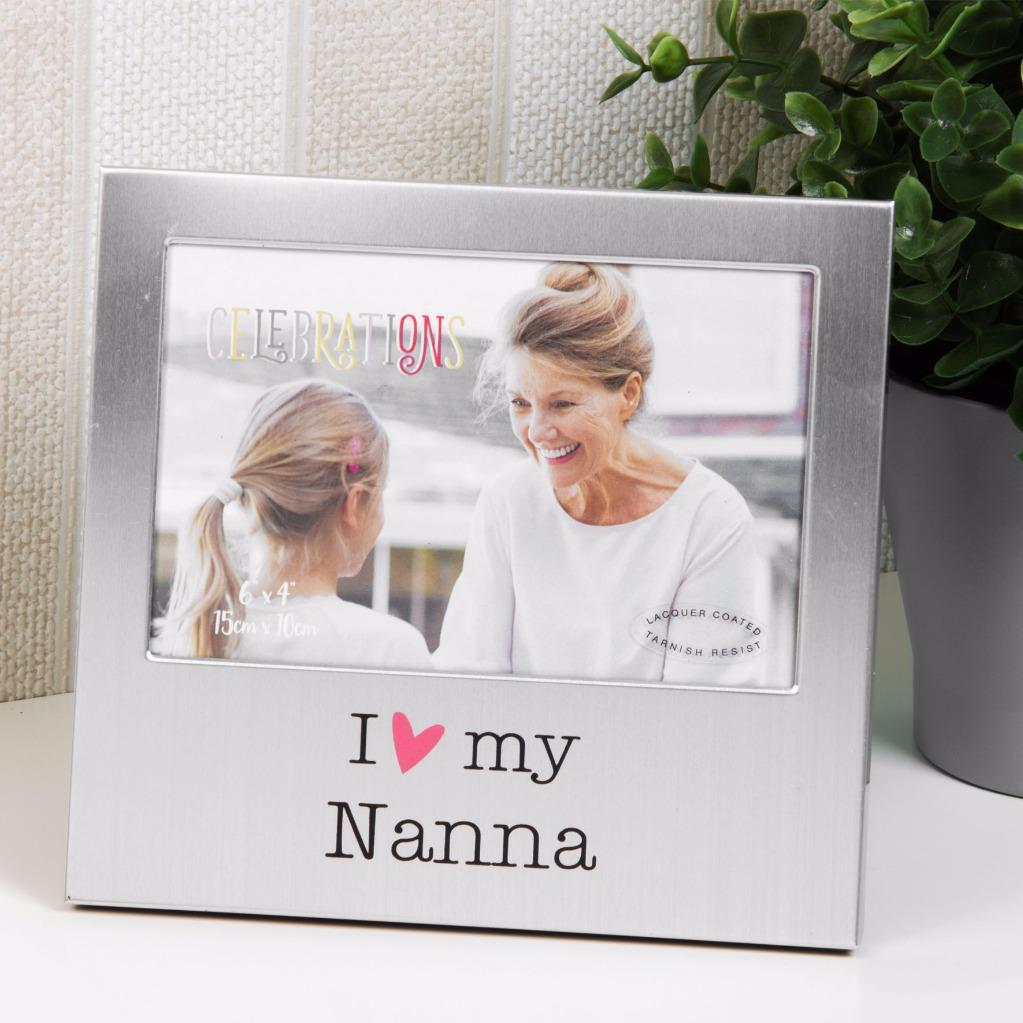 I Love My Nanna Photo Frame Gift New Boxed 6 x 4 FA518NAN ...