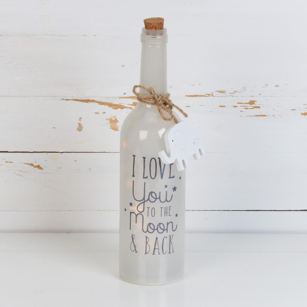 Personalised Best Nan Gift LED Light Up Bottle Glass LL255N-P
