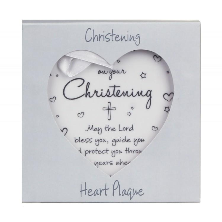 On Your Christening Ceramic Heart Plaque Gift LP42044