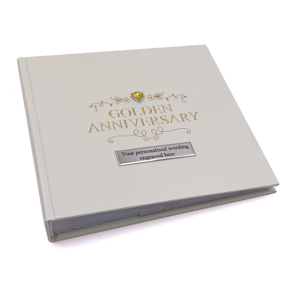 Personalised 50th Golden Wedding Anniversary Photo Album 50 Pictures