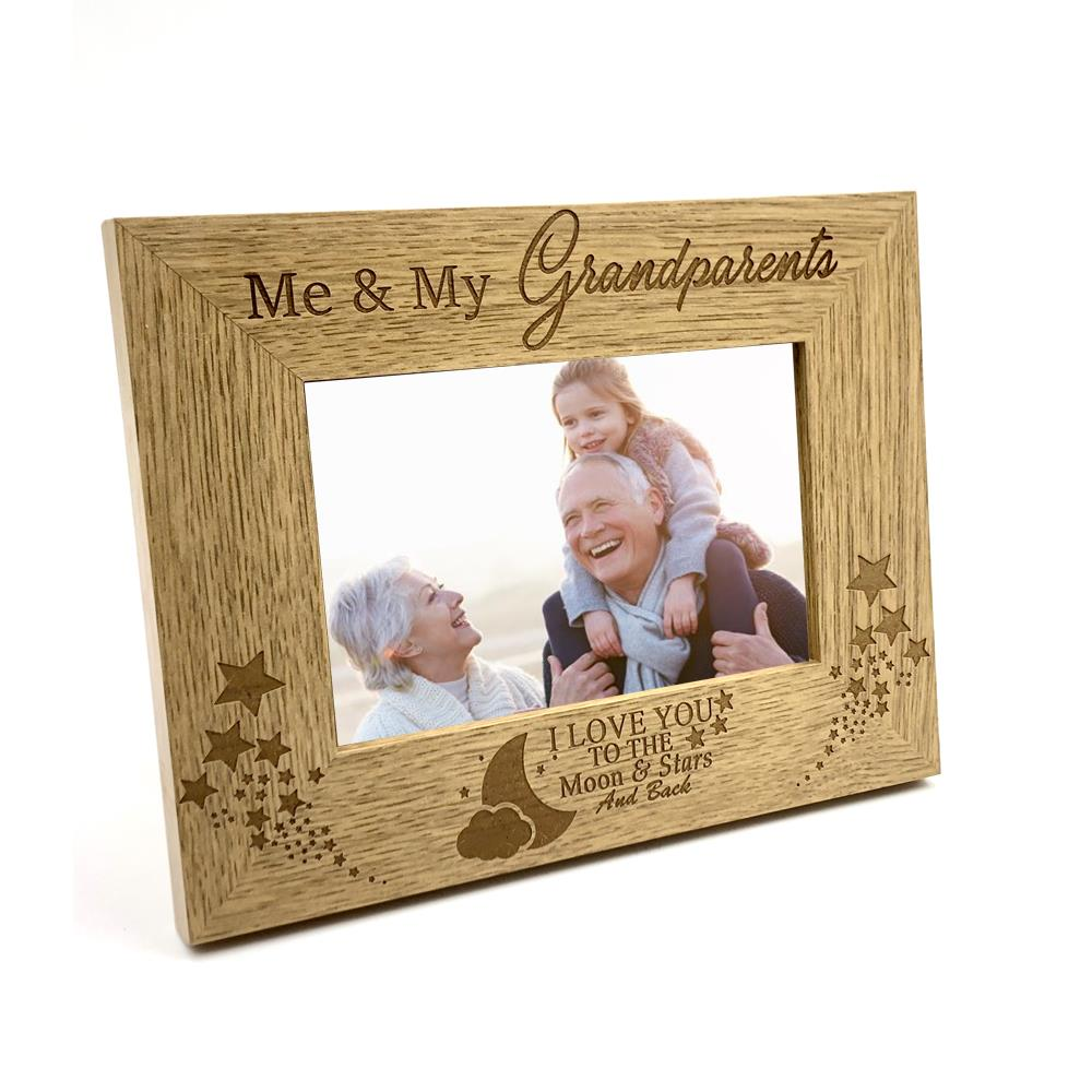 Me and My Grandparents Love You To The Moon Photo Frame Gift FW148 ...