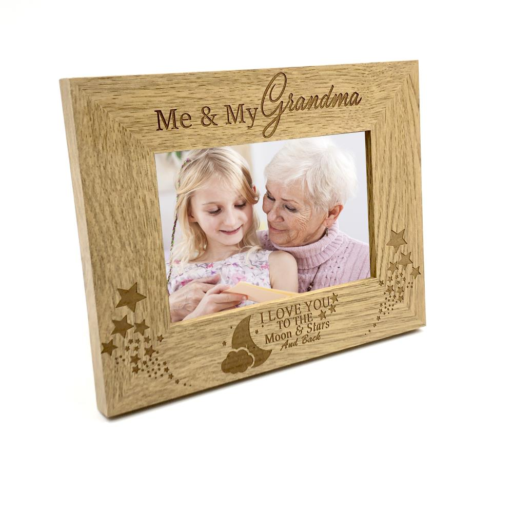 5 x 7 ukgiftstoreonline Me and My Brother Gift Personalised Oak Photo Frame