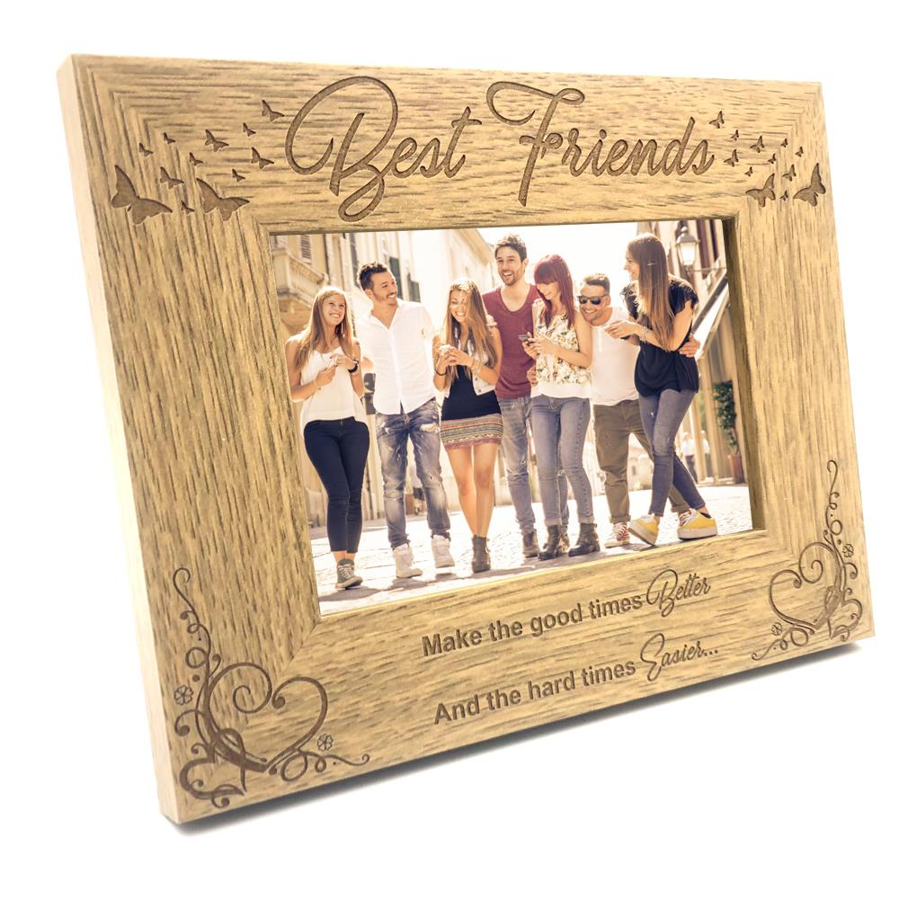 "Personalised Best Friends Photo Frame 6x4/""  Wooden Friendship Picture Frame Gift"