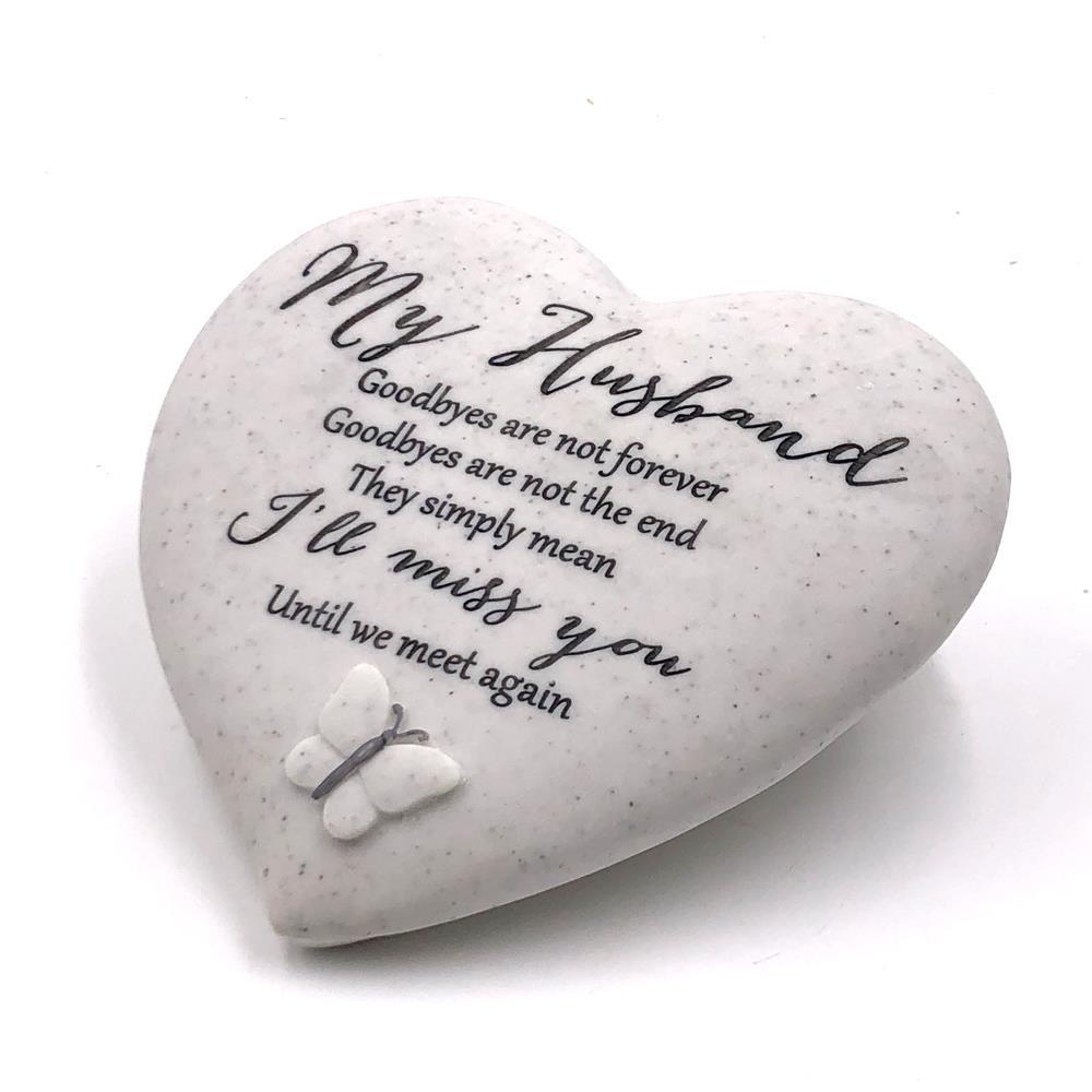 My Husband Remembrance Heart Graveside Memorial Ornament 62581