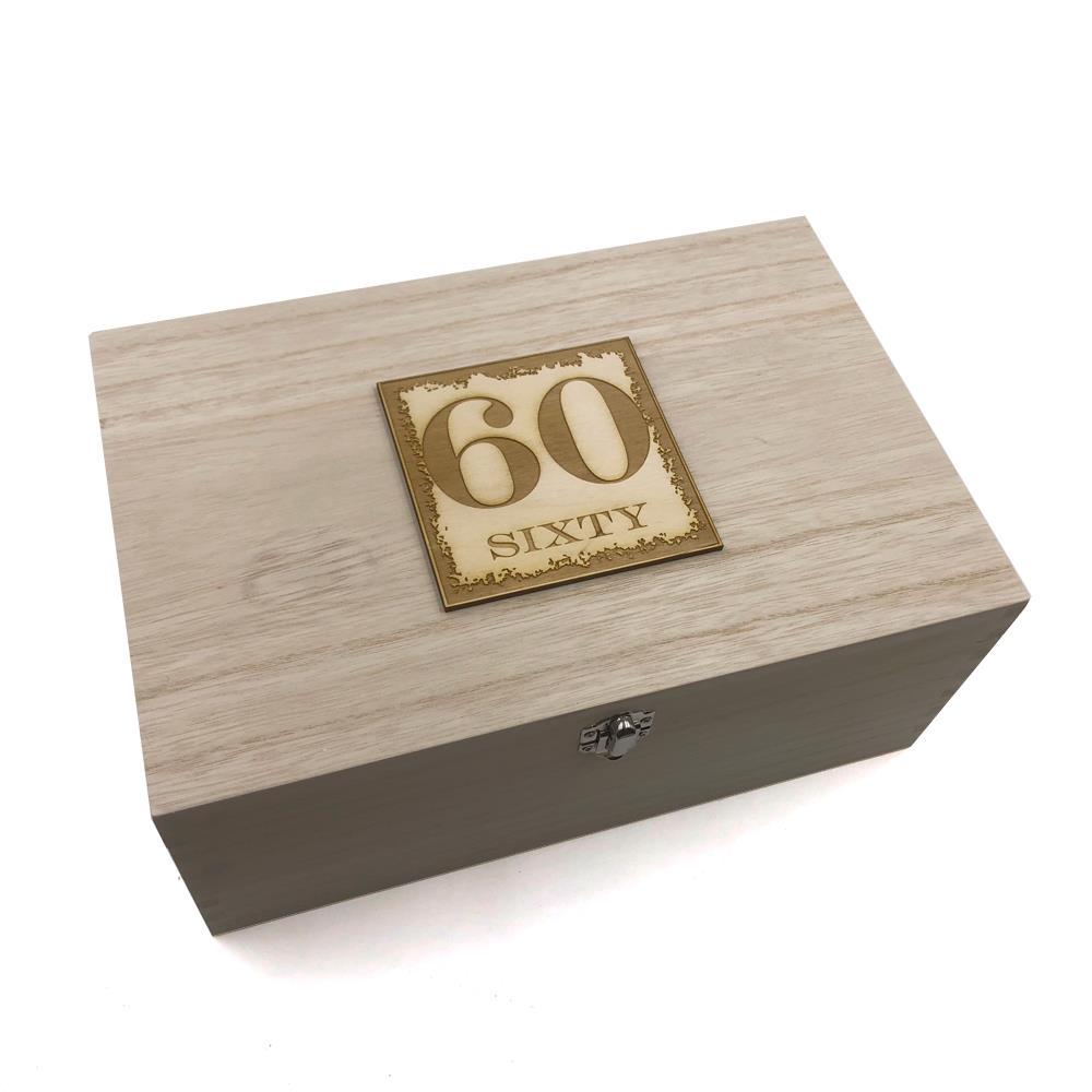 60th Birthday Gift Large Memories Keepsake Box HB-19