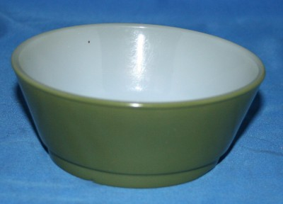 Fire King Stacking Chili Bowl(s) Fired on Olive Green