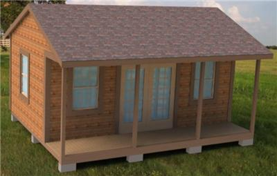 16x20 cabin shed / guest house building plans ~ Download My