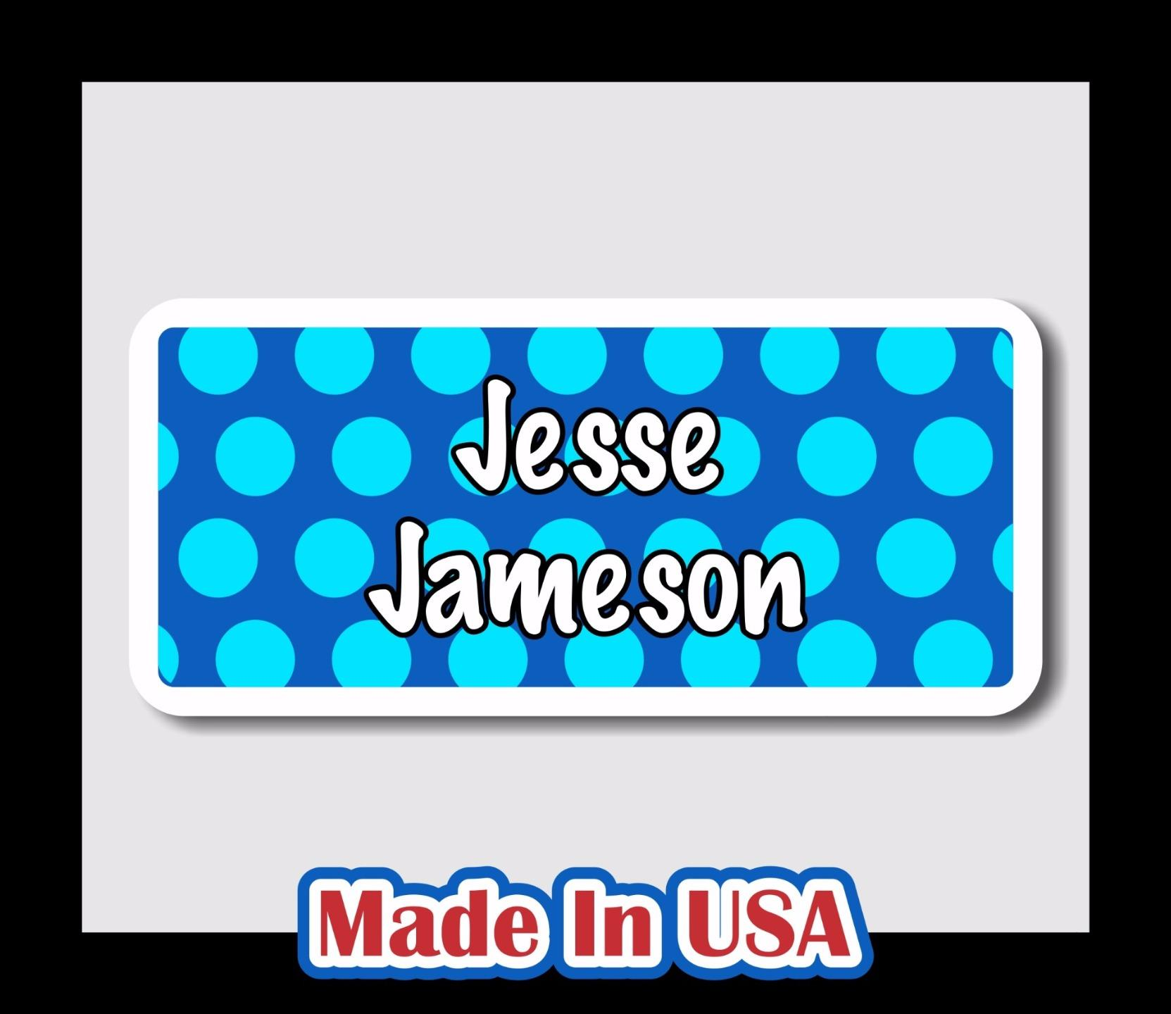 42 Custom Personalized Waterproof Name Labels Stickers