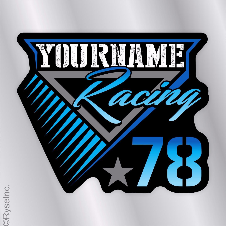 Your Name Racing Trailer Decal Sticker Race Car IMCA ...