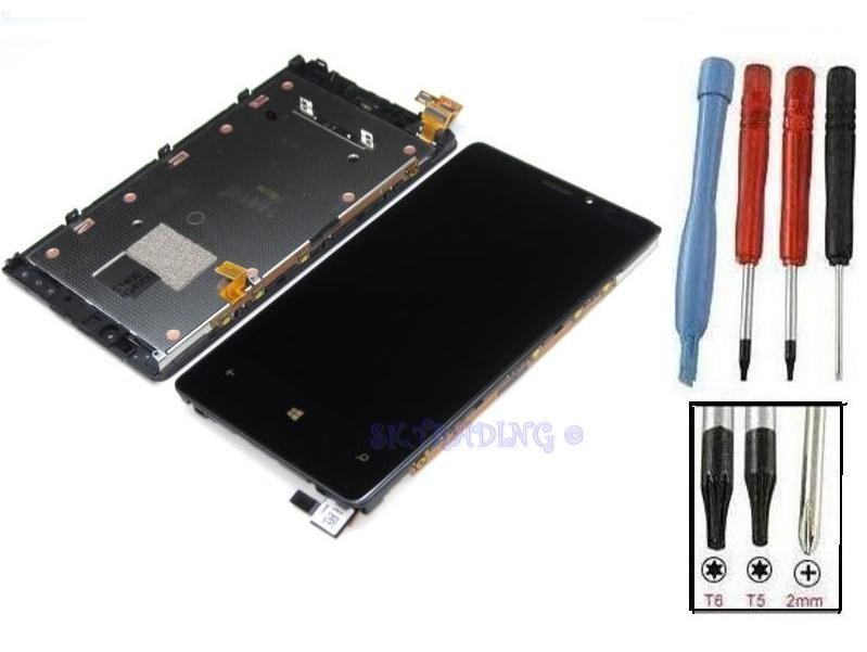 Ecran lcd vitre tactile sur chassis bloc complete pour for Photo ecran lumia 920