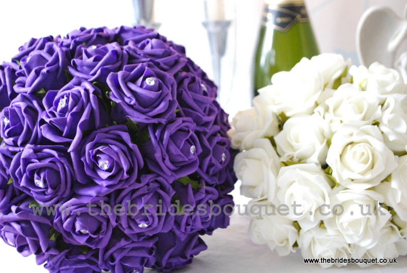 Brides Posy Bouquet Wedding Flowers Bridesmaids Posies, 3