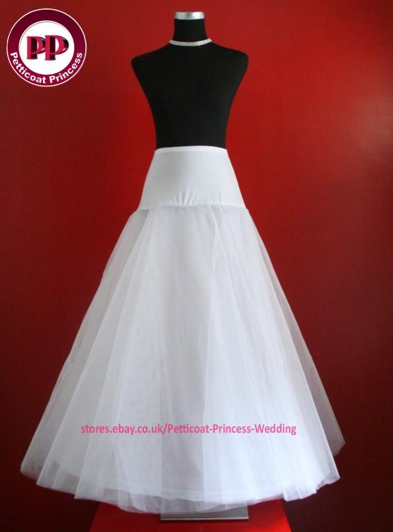 White & Ivory BRIDAL WEDDING DRESS /PROM PETTICOAT/UNDERSKIRT ...