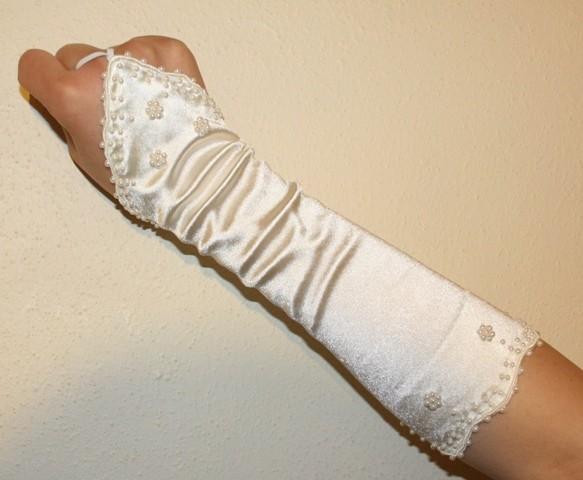 Pearl Fingerless Ivory Bridal Wedding Gloves New