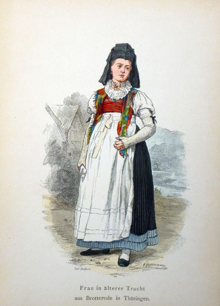 Original Costumes.Details About Woman In Ancient Costume Wiese Co Berlin 1890 Original Engraving 2c 30