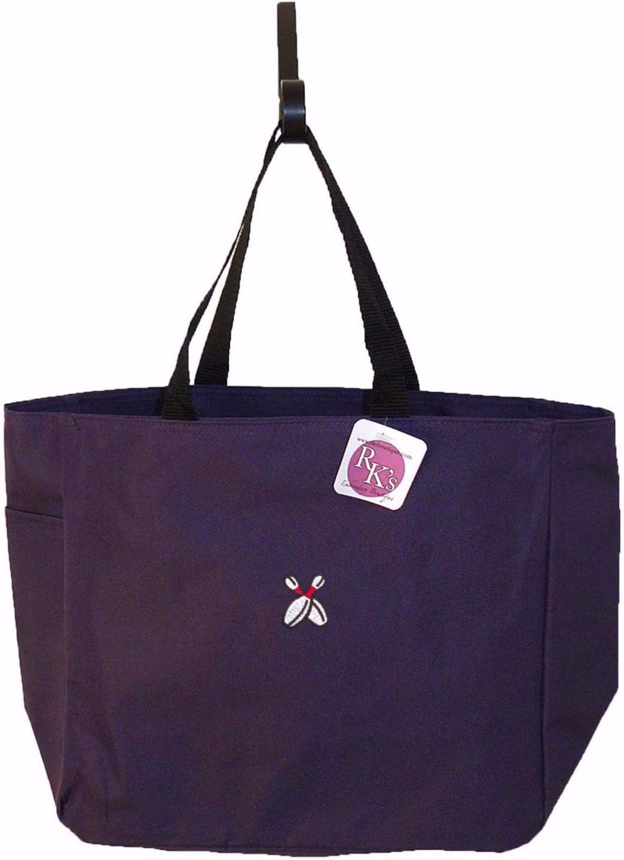 bowling pins team bag monogram custom embroidered essential tote bag nwt ebay. Black Bedroom Furniture Sets. Home Design Ideas