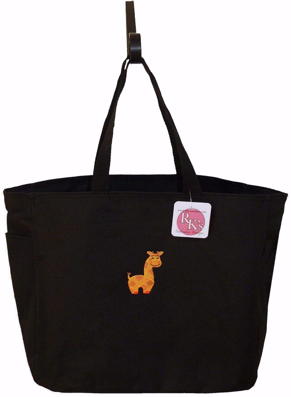 Baby Giraffe Diaper Bag Free Name Custom Embroidered
