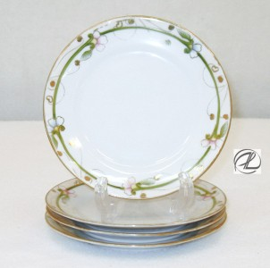 Antique China Nippon Bread & Butter Plates SET OF 4 Vintage China
