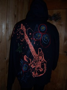 3XL NWT ROCK STAR HOODIE by TOOL JEANS in Black and Teal  2XL
